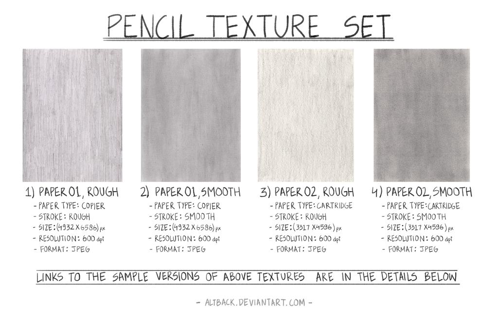 pencil texture set by altback
